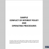 Sample Conflict of Interest Policy and Operating Procedures